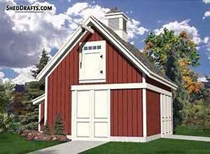 21 U00d722 Pole Frame Barn Shed Plans Blueprints To Set Up