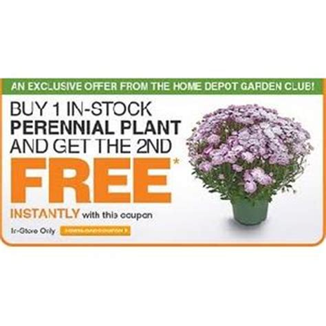 the home depot garden club exclusive coupons vonbeau