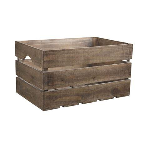 caisse en bois blanchie 55x36x30 cm cra3600 aubry gaspard home boulevard
