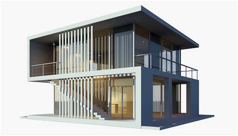 house models and plans 3d modern house model