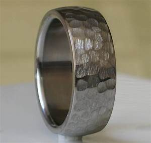 15 inspirations of hammered tungsten men39s wedding bands With mens hammered wedding ring