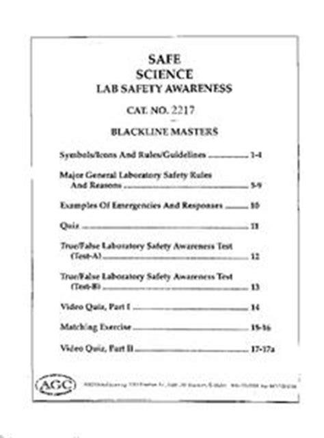 Science Safety Worksheet  Kidz Activities