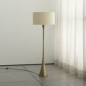 melrose brass floor lamp reviews crate and barrel With ballard brass floor lamp