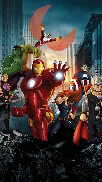 Avengers Assemble Wallpapers Marvel Animated Phone Wallpapercave