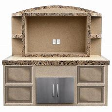 Cal Flame Crystal Stucco And Tile Outdoor Entertainment