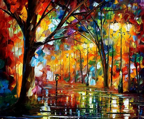 holiday mood 20 x 24 - oil painting by Leonid Afremov   Flickr