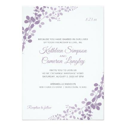 Purple Wedding Invitations Shilohmidwifery com