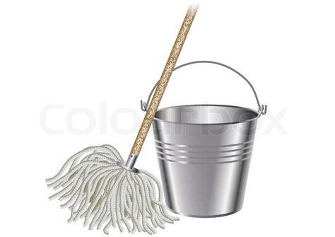 mop  bucket stock vector colourbox