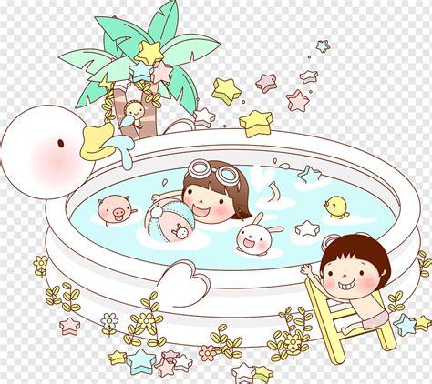 mewarnai sketsa gambar kolam renang sketsa gambar kolam
