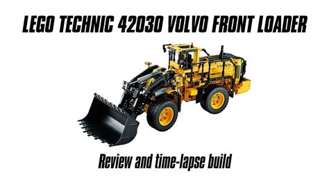 lego technic 42030 lego technic 42030 volvo front loader build review