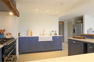 handmade kitchen furniture in frame shaker kitchen in juniper ash blue east meon