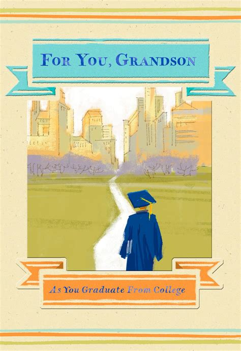 cityscape college graduation card  grandson greeting