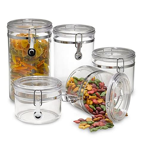 oggi kitchen canisters oggi acrylic 5 piece canister set bed bath beyond