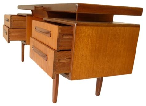 Mid Century Teak Desk Floating Top Design By G Plan
