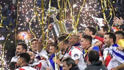 River Plate return to Argentina, celebrate Copa ...