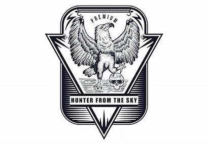 Skull Eagle Drawn Hand Vector Clipart Graphics