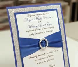 royal wedding invitation stunning diy royal blue silver glitter wedding by invitebling