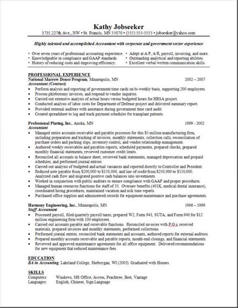 Resume Layout Exle by Sle Resume Layout Free Resumes