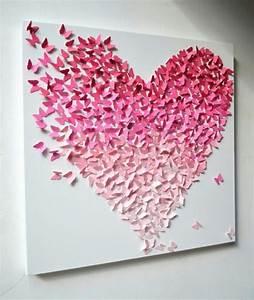 Butterfly heart paper art cutting