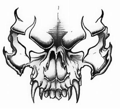 Skull Evil Tattoo Drawings