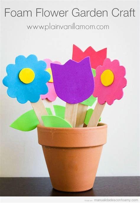 Flores de foamy para niños o flores con termoformado