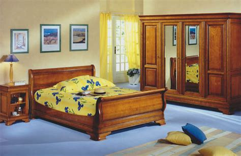 lit louis philippe merisier massif meubles hummel