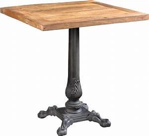 Table Bois Et Fer : table bistrot bois et fer forg pieds fantaisies ~ Teatrodelosmanantiales.com Idées de Décoration