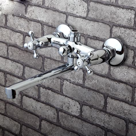 cheap wall mounted long spout  bathtub faucet