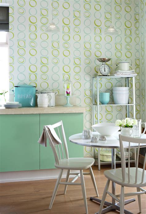 green wallpaper for kitchen green kitchen wallpaper and photos 4046