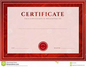 Free Certificate Template Red Border Certificates Designs Blank Certificates