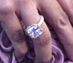 vanessa bryant39s asscher cut solitaire engagement ring With vanessa bryant wedding ring