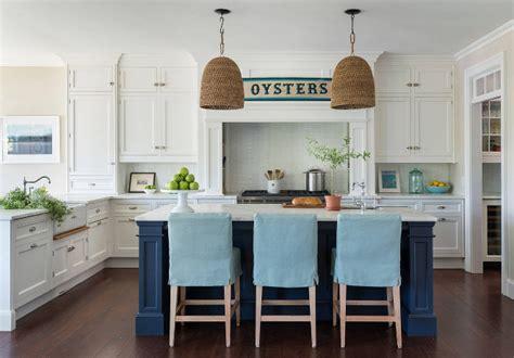 nautical kitchen cabinet coastal white kitchen with navy blue island home bunch