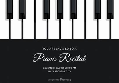 Piano Recital Vector Invitation Clipart Keys Vecteezy