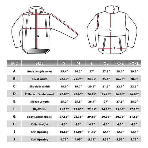 pit sizes condor summit tactical soft shell jacket