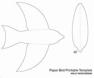 Best Photos of Bird Shape Template - Printable Bird Cut ...