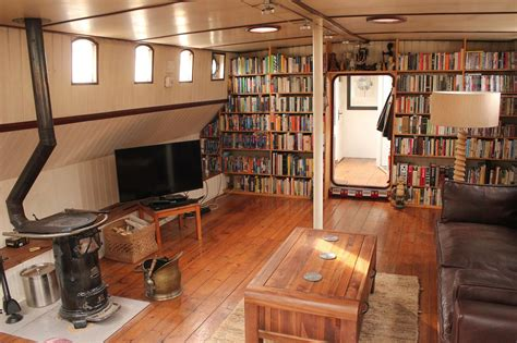 converted dutch barge google search boat house interior houseboat living house boat