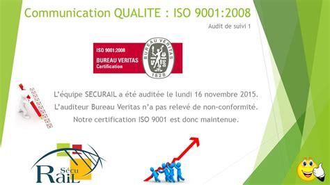 comite entreprise bureau veritas novembre 2015 qualité iso 9001 2008 securail est