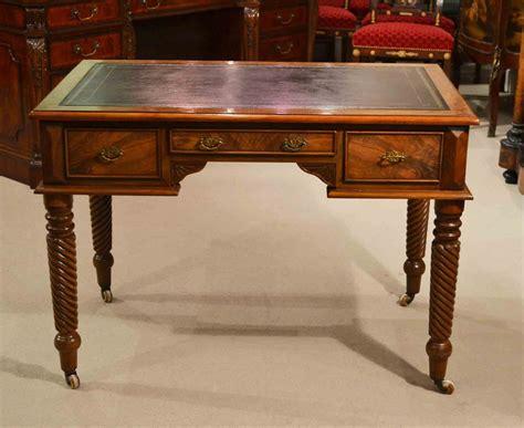 vintage walnut writing table desk c 1930