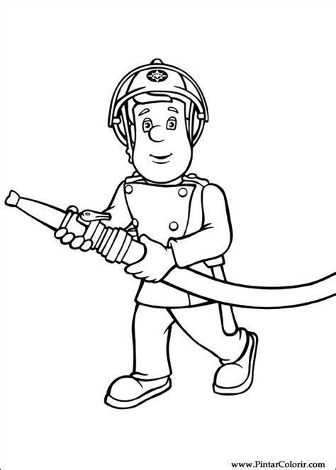 zeichnungen zu malen und farbe feuerwehrmann sam print design