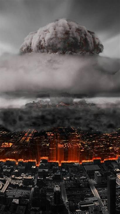 Nuclear Explosion Bomb Atom Smoke Armageddon Cities