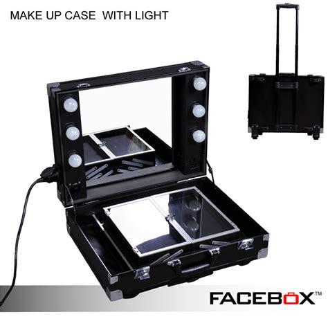 portable makeup mirror with lights facebox professional makeup artist lighting makeup case