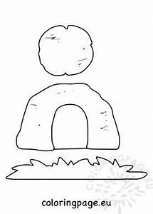 Easter Resurrection craft template – Coloring Page