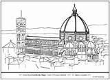 Coloring Dome Florence Cathedral Brunelleschi Lesson Drawings 256px 97kb sketch template