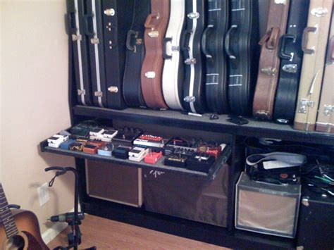 Wall Mounted Guitar Case Rack