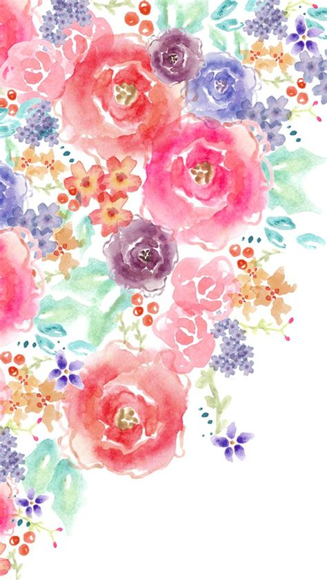 Your watercolor flowers stock images are ready. Pin by OUM..☆彡 on BG/Wallpaper/Pattern | Watercolor flower background, Watercolor floral ...
