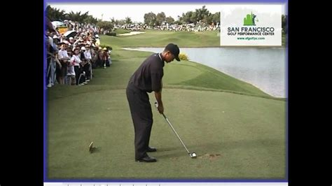 tiger woods swing tiger woods 2000 golf swing normal speed frame by frame