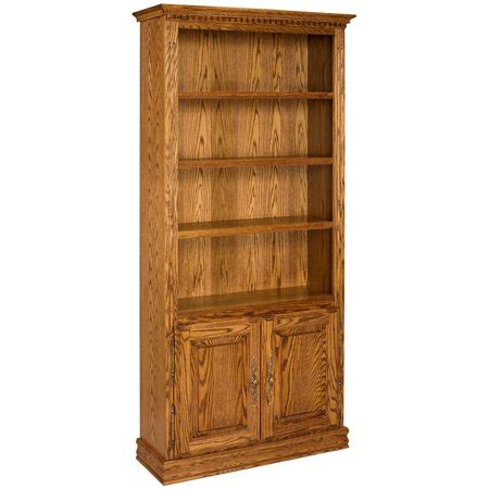 Solid Oak Bookcase by A E Solid Oak Britannia Wood Bookcase With Doors