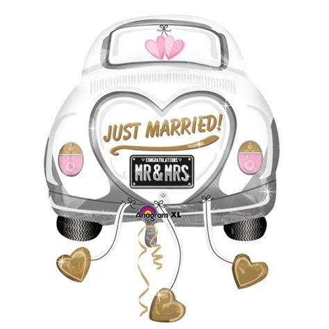 hochzeitsgeschenke fã r brautpaar 5 x just married wedding car supershape foil balloon xl dreemway