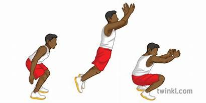 Jump Standing Steps Exercise Fitness Sequence Pe