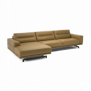 natuzzi editions ofena sofa with chaise With natuzzi leather sectional sofa with chaise